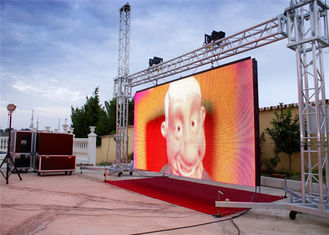 Chiny Outdoor Waterproof LED Video Wall Display , 6mm Comercial LED Screen dostawca