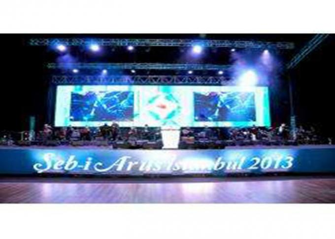 RGB Stage Equipment Indoor Rental Led Screen 1300cd / M2 Brightness Easy Maintenance